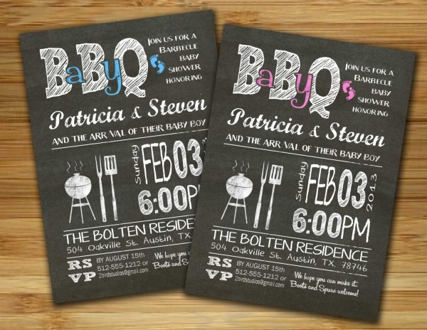 Bbq Baby Shower Invitations Bbq Baby Shower Invitations Also Have