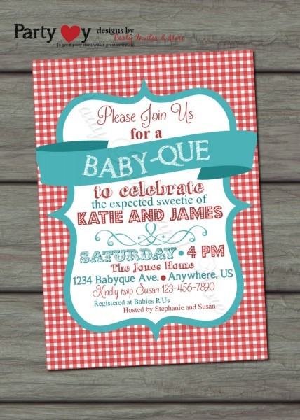 Bbq Baby Shower Invitations Bbq Baby Shower Invitations And New