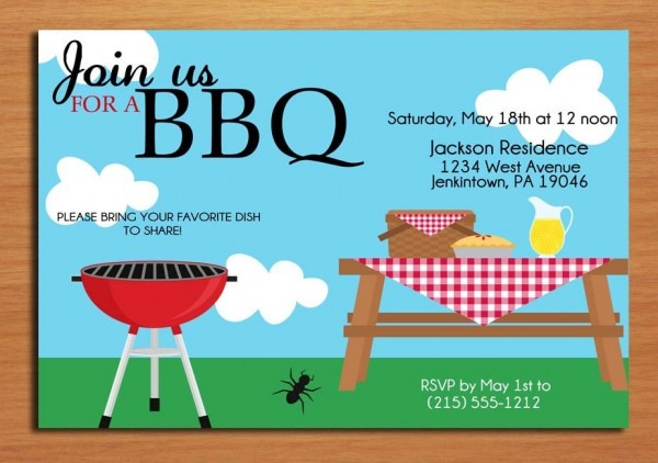 Bbq Invitation Templates Free Download Cute Free Downloadable