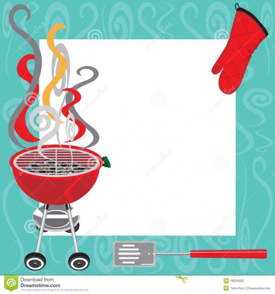 Bbq Party Invitation Stock Vector  Illustration Of Flames
