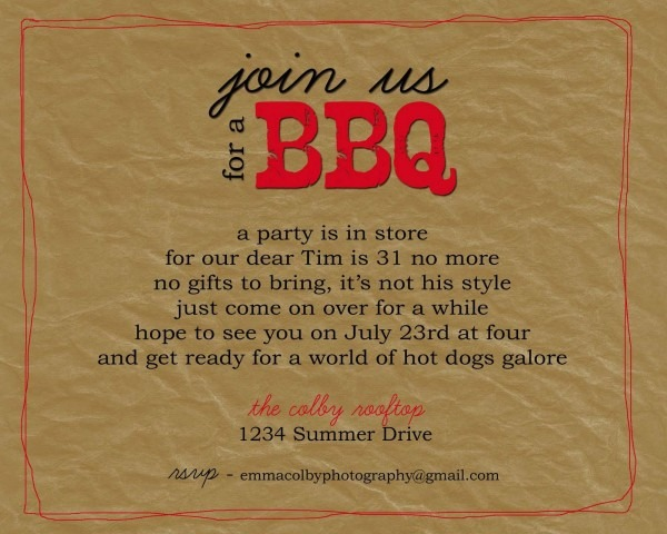 Bbq Invitation Wording Unique Awesome Chocolate Party Invitations