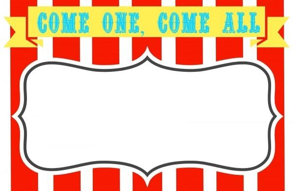 Free Printable Carnival Themed Invitations