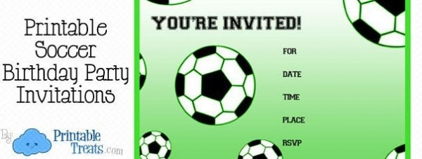 Soccer Party Invitation Template Vintage Free Printable Soccer