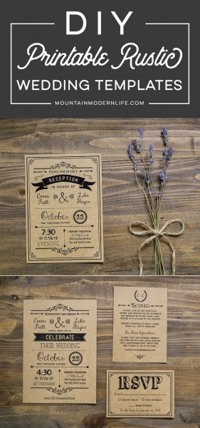 Looking For Rustic Wedding Invitation Templates You Can Easily