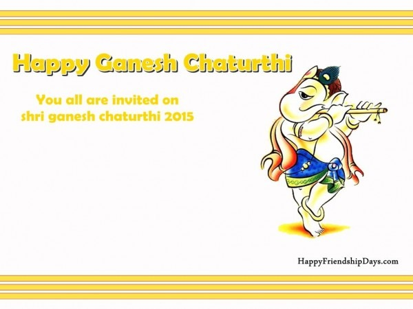 Lovely Collection Of Happy Ganesh Chaturthi Invitation Card With