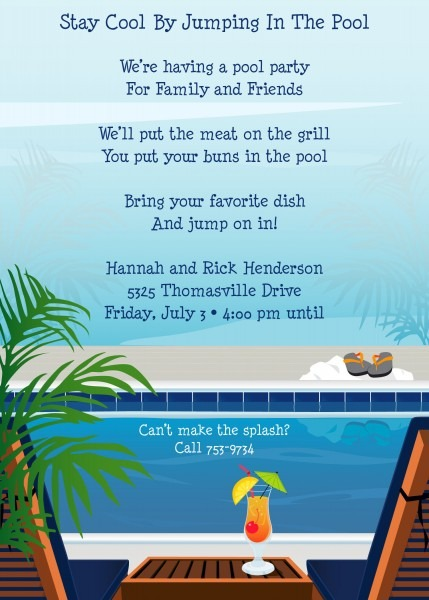 Beach Party Invitation Wording Archives