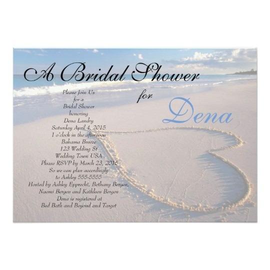 Beach Theme Bridal Shower Invitations Invitation Zazzle Com