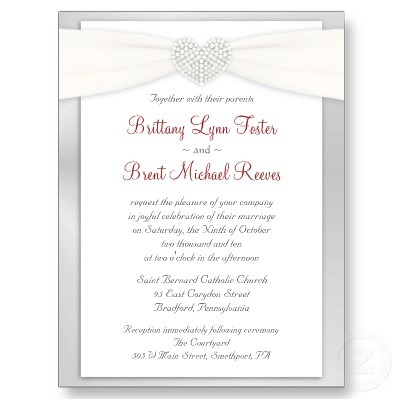 Examples Of Wording On Wedding Invitations