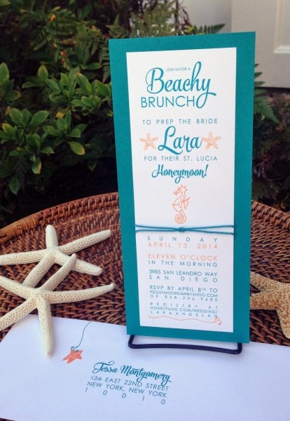 Kim Grant, Ink & Such  Beachy Bridal Shower Invitations