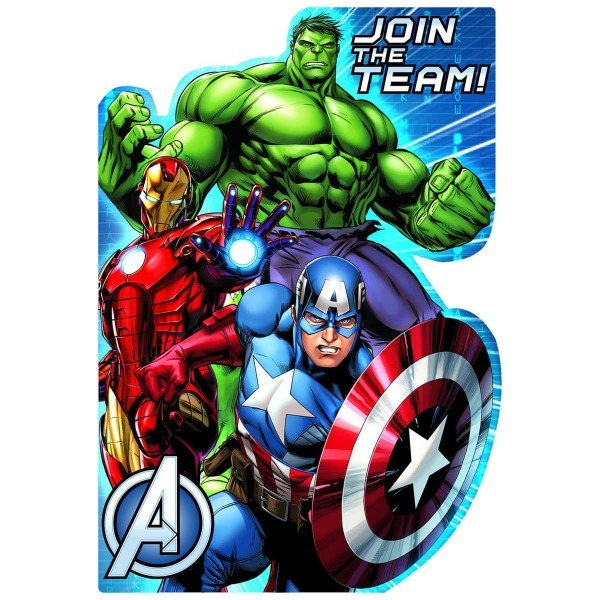 Beautiful Avengers Party Invitations 29 For Invitations Cards