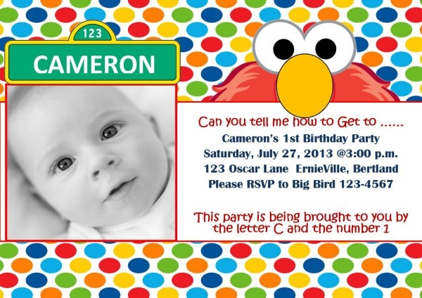 Beautiful Elmo 1st Birthday Invitations 77 About Remodel
