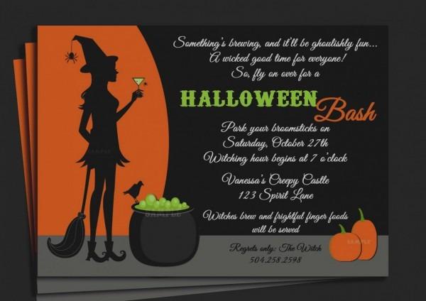 Beautiful Halloween Party Invitation Wording Birthday For Movie