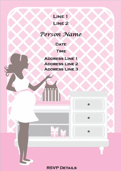 Beautiful Printable Baby Shower Invitations For Girls And Twins