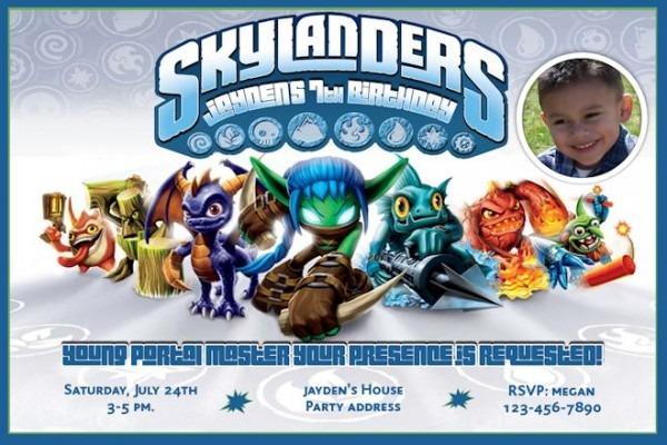 Skylander Birthday Party Invitations Free Gallery Invitation