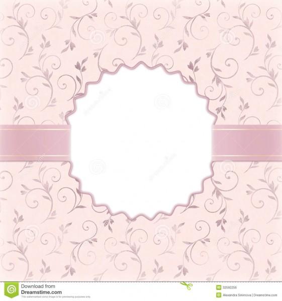 Beautiful Wedding Invitation Stock Illustration