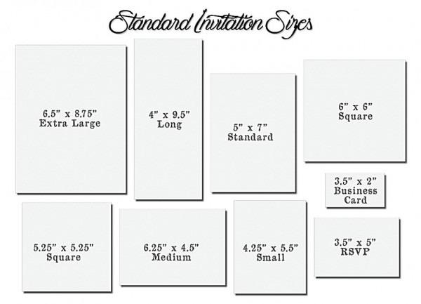 Beautiful Wedding Invitation Sizes 14 With Additional Invitations