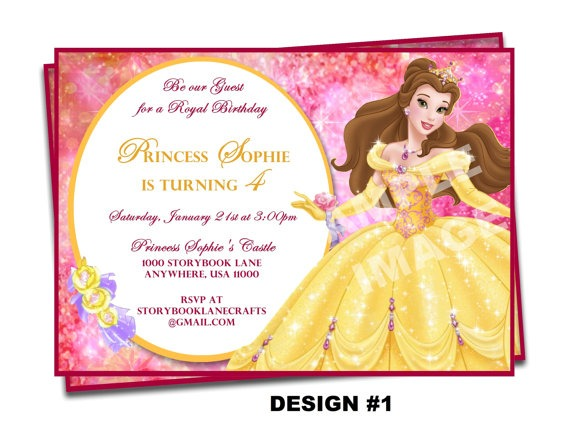 Beauty And The Beast Birthday Party Invitation Ideas Wording