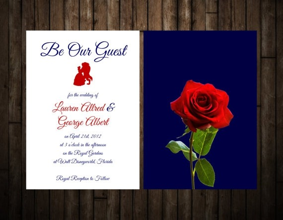 Beauty And The Beast Wedding Invitations Beauty And The Beast