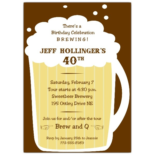 Invitation For 21st Birthday Beer Mug Quotes