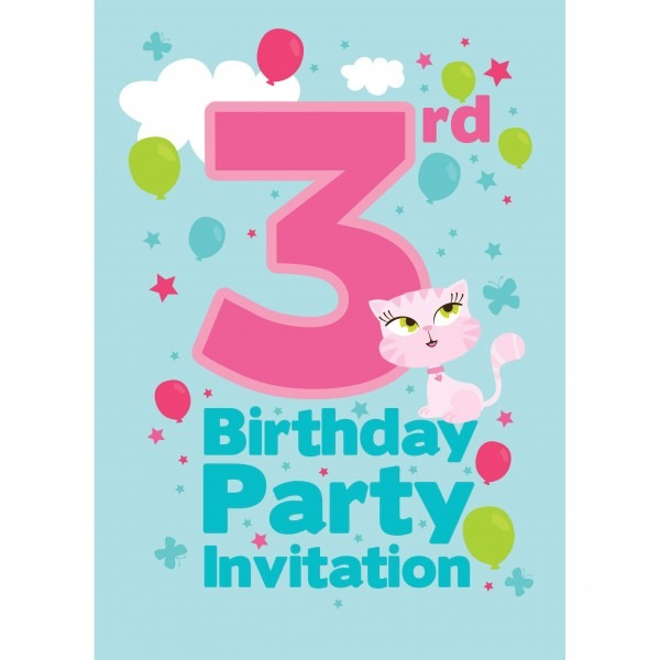 Best 3rd Birthday Invitations