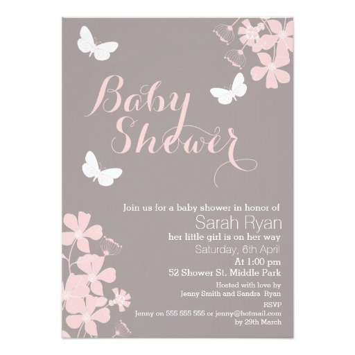 Adorable Butterfly Baby Shower Invitations 22