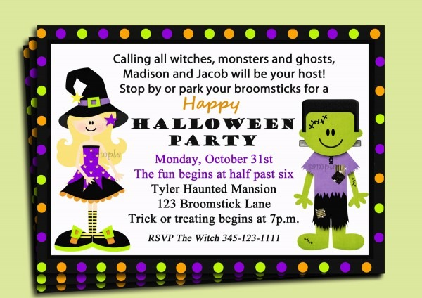 Best Halloween Party Invitation Wording 97 With Additional