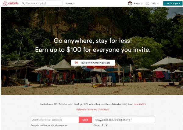 Invite Friends Design Pattern Example At Airbnb