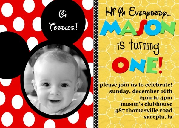 Best Personalized Mickey Mouse Birthday Invitations 70 With