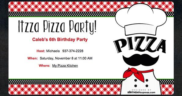 Download Free Pizza Party Invitations Free  Fresh Ideas Pizza