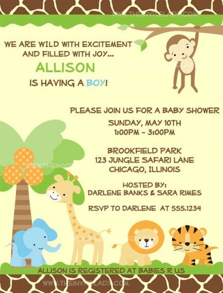 Best Safari Themed Ba Shower Invites You Must See Safari Theme