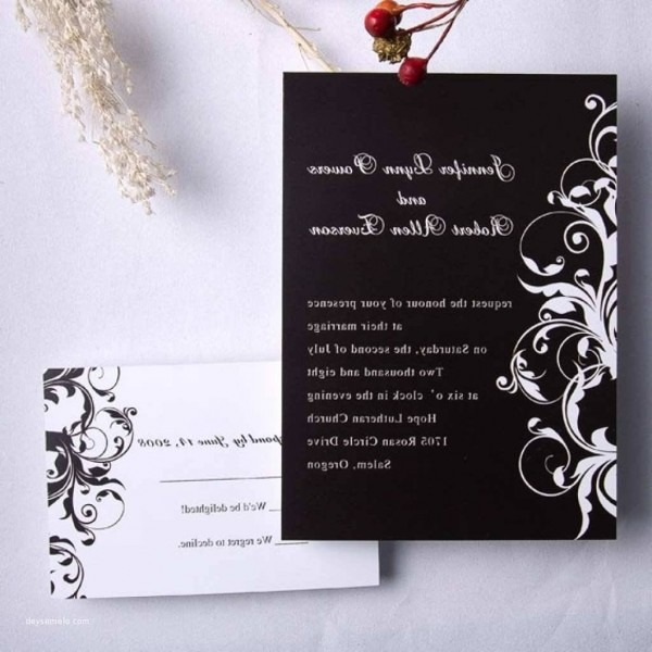 206458 Best Wedding Invitations With Rsvp Attached From Cheap