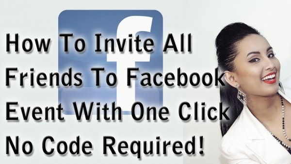 How To Invite All Friends To Facebook Event With One Click