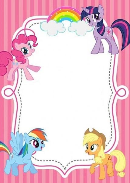 Bfdbabeafcffeabecb Fancy My Little Pony Birthday Invitations Free