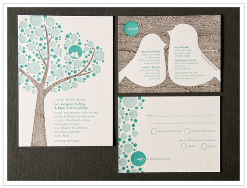 Bird Wedding Invitations Bird Wedding Invitations With A