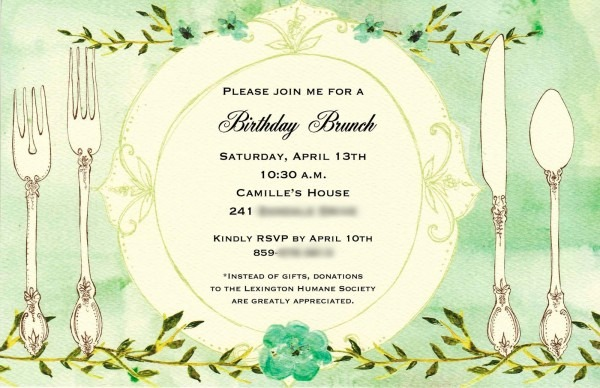 Birthday Lunch Invitation Birthday Brunch Invitations Birthday