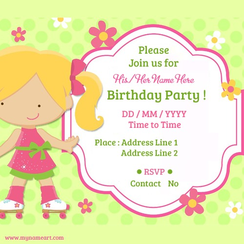 Birthday Card Invitation Simple With Birthday Card Invitation