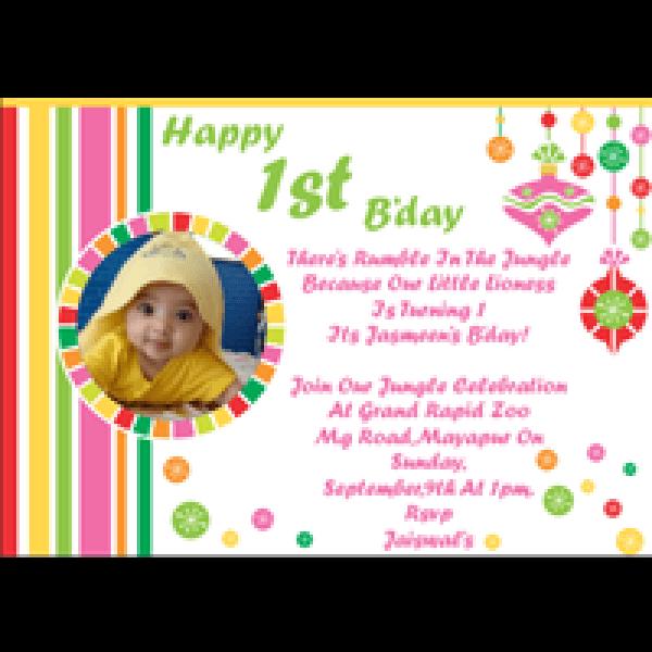 First Birthday Ecard Invitation Free Elegant First Birthday Ecard