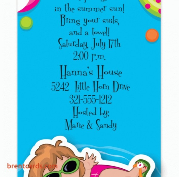 Birthday Cards Beautiful Pool Party Invitation Wording Sympathy