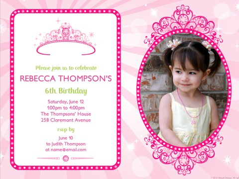Customized Birthday Invitations With Divine Appearance For Divine