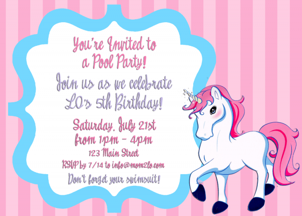Birthday Invitation Example Trend Birthday Invitation Examples