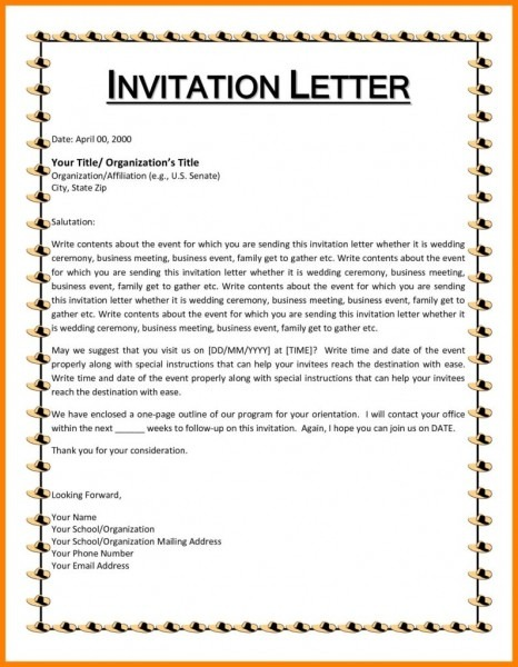 Invitation Template  How To Write A Birthday Invitation Email