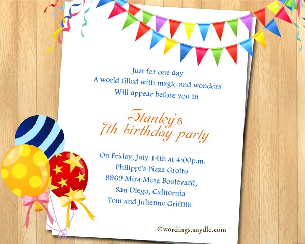 Birthday Invitations Messages Awesome With Birthday Invitations