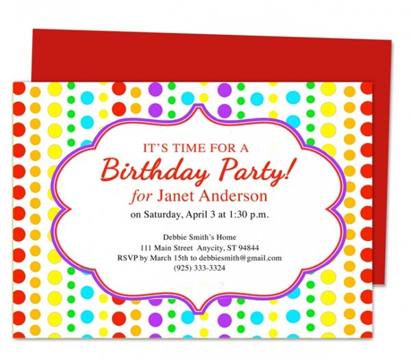Kids Birthday Invitation Card Template Yolarcinetonicco