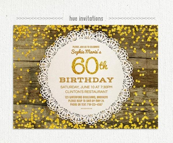 The Fantastic Cool Invitation Card For 60th Birthday Ideas