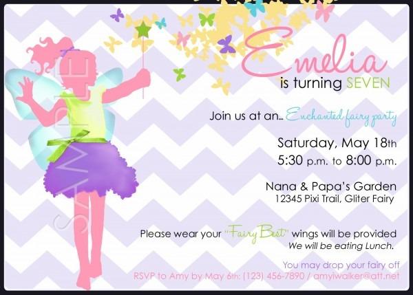 Birthday Party Invitations Stunning Invitation Wording Enchanting