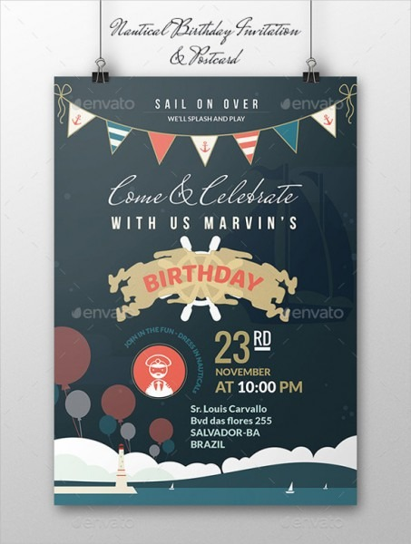 Birthday Postcard Invitations Templates Free Perfect With Birthday