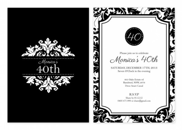 Black White Flowers Invitations Fresh White Party Invitations