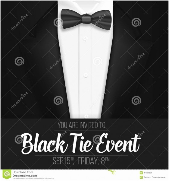 39 Good Photos Of Black Tie Event Invitation Free Template