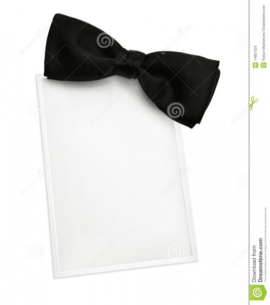 Black Tie Invitation Stock Image  Image Of Photograph