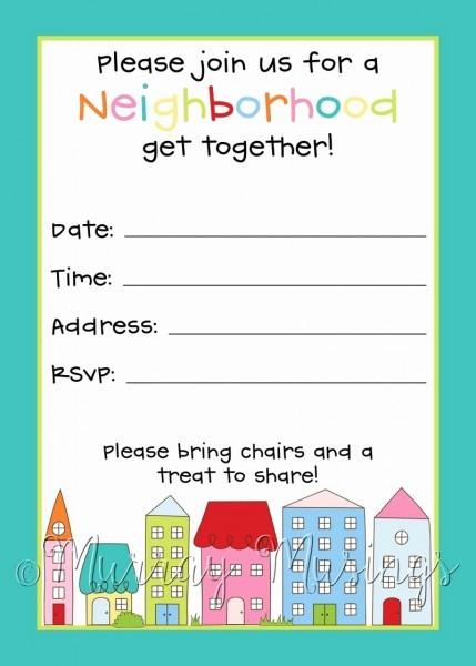 Block Party Flyer Template Free Beautiful Free Neighborhood Block